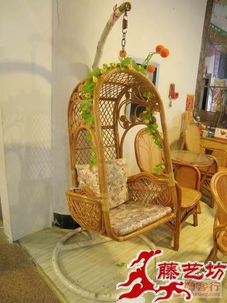 Esteras de coches muebles de mimbre silla de mimbre silla for Silla hamaca colgante