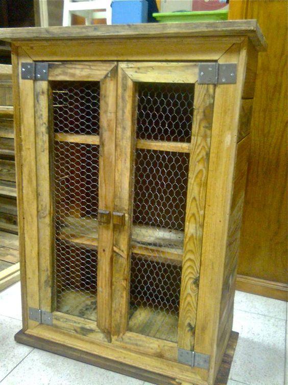 Armario para cocina muebles hechos con palets pinterest - Muebles hechos con palets ...