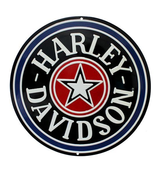 Harley-Davidson Fat Boy Gas Cap Tin Sign