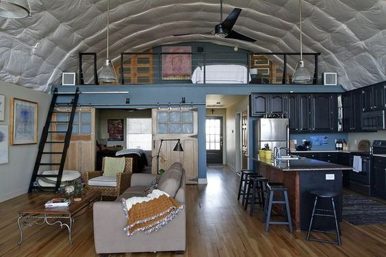 Quonset hut homes interiors google search q hut houses for Quonset hut home designs