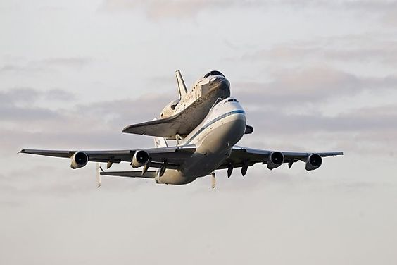 Too old to fly by itself anymore, the Space Shuttle Discovery must take a passenger jet like anyone else. The shuttle made its final flight from the Kennedy Space Center in Cape Canaveral, Fla., to Washington, where it will reside in the Smithsonian National Air and Space Museum.