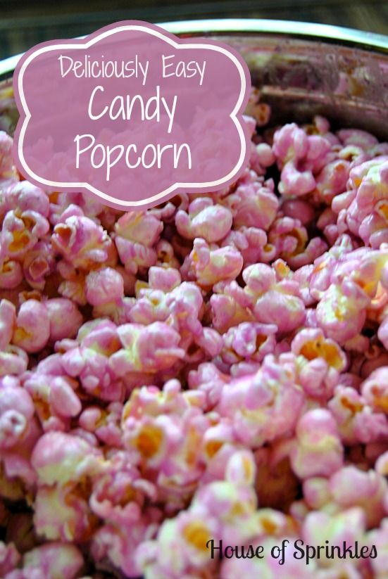 Incredibly easy and super delicious candy popcorn recipe.