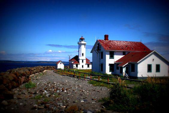 Point Wilson Lighthouse in Port Townsend, Washington