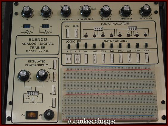 ELENCO Analog And Digital Electronics Student Practice Trainer XK 550 Used  Junk0878  http://ajunkeeshoppe.blogspot.com/