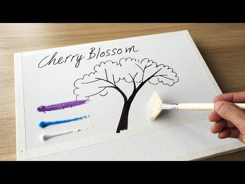 Daily Challenge 38 Acrylic Swab Art Couple In Love Under Cherry Blossom Tree Moonlight Youtube Couple Art Blossom Trees Cherry Blossom Tree