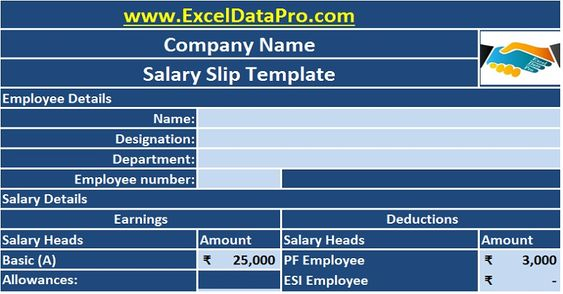 Download Employee Contract Renewal Schedule Excel Template to - download salary slip