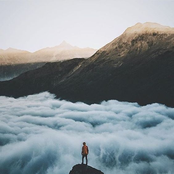 Gray skies are just clouds passing over.  Photo by @silvan.schlegel   #AdventureThatIsLife