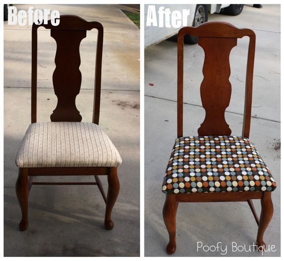 how to reupholster chair seats diy pinterest diy. Black Bedroom Furniture Sets. Home Design Ideas