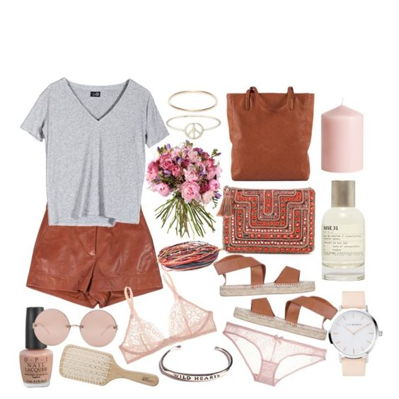 """""""Tan & Rosy"""" by thefallingkind on Polyvore"""