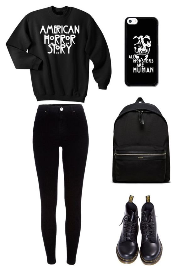 """American Horror Story Back To School Outfit"" by whispers-in-the-dark01 on Polyvore:"