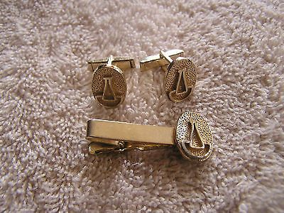 #Vintage #cufflinks set with tie tack clip #clasp milk bottle,  View more on the LINK: http://www.zeppy.io/product/gb/2/330830178722/