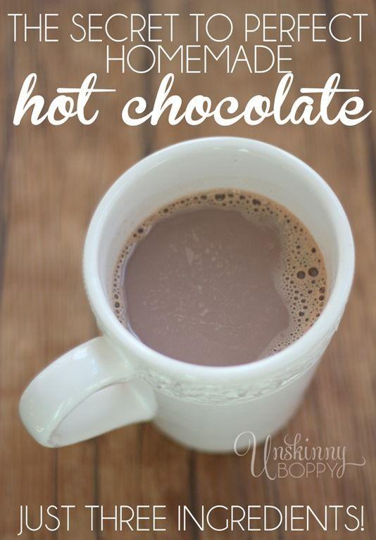 The Perfect Homemade Hot Chocolate Recipe 1 Tablespoon Hershey S Cocoa Powder 1 2 C Hot Chocolate Recipe Homemade Homemade Hot Chocolate Hot Chocolate Recipes