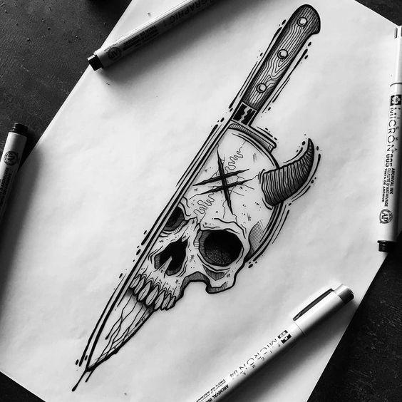 Skull Tattoo Ideas Tattoo Art Drawings Skulls Drawing Creepy Tattoos