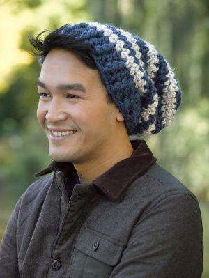 Mens Hat Crochet Pattern Chunky Yarn : Stripes, Hats and Lion brand on Pinterest