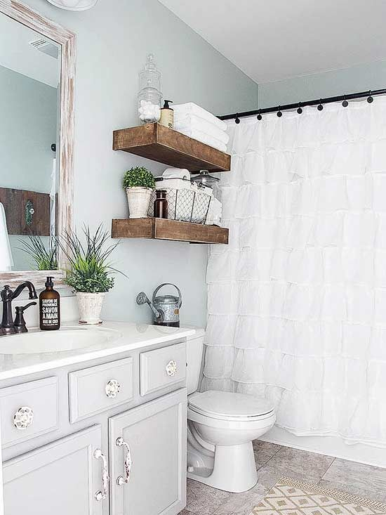 6 DIY Ideas to Upgrade Your Ugly Bathroom   Toaletter, Gardiner ...