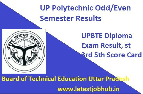 Bteup Polytechnic Result 2020 Exam Marks Exam Results Diploma