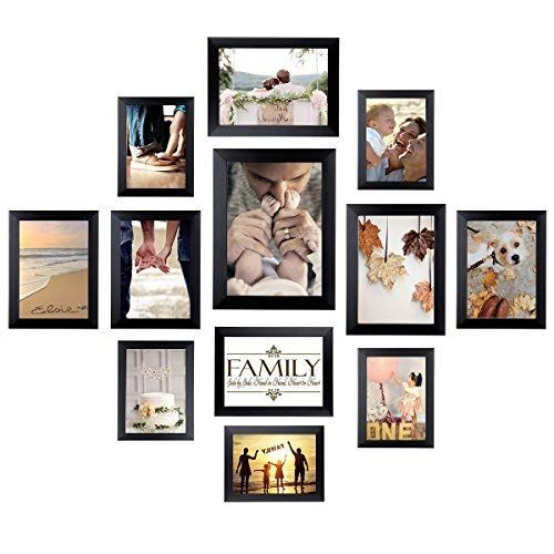 Homemaxs 12 Pack Picture Frames Collage Photo Frames Wall Gallery Kit For Wall And Home One 8x10 Picture Gallery Wall Framed Photo Collage Frame Wall Collage