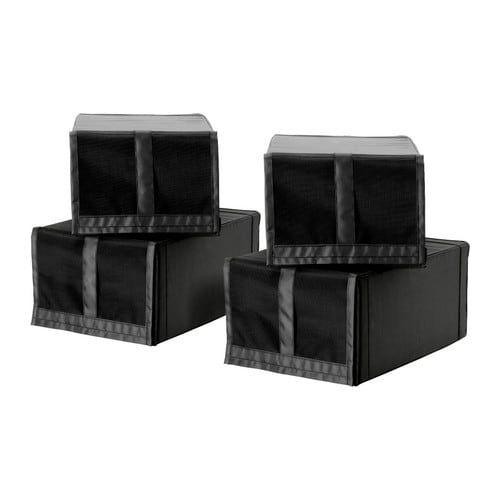Contenitori Per Cabina Armadio.Skubb Shoe Box Black Ikea Scatole E Contenitori