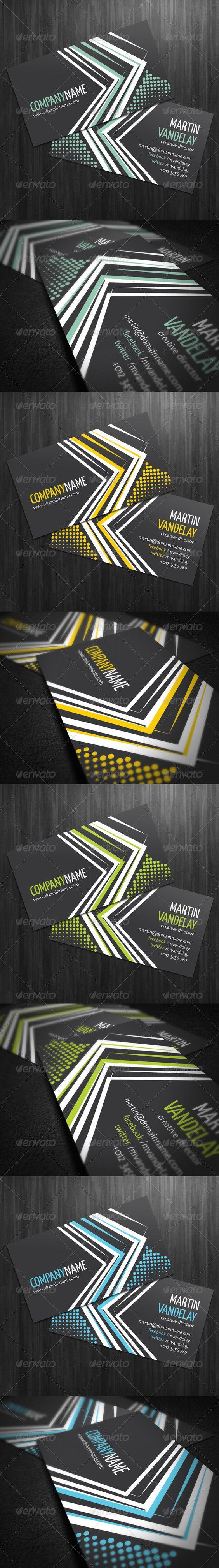 halftone corporate business card lemon graphic