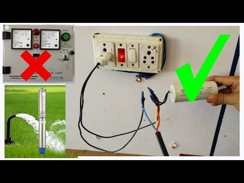 Submersible Starter Connection Single Phase Submersible Starter Capacitor Connection Youtube Submersible Submersible Pump Connection