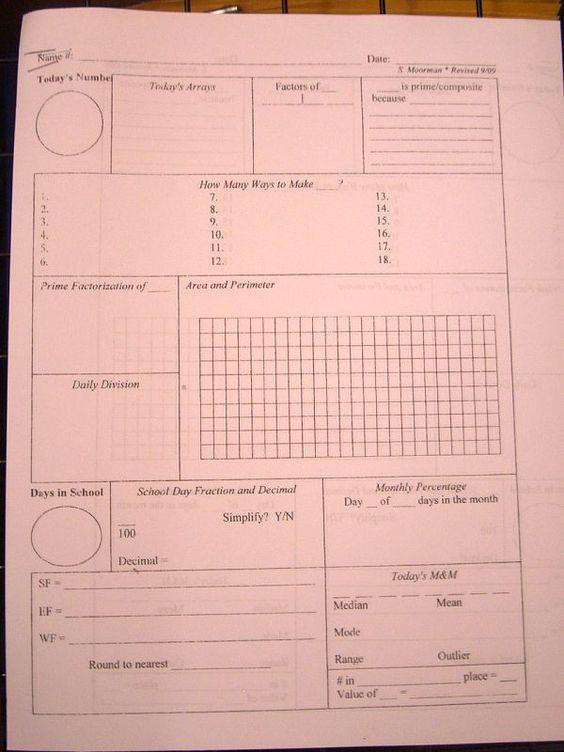 Calendar Math Ideas Nd Grade : Daily calendar math for th grade