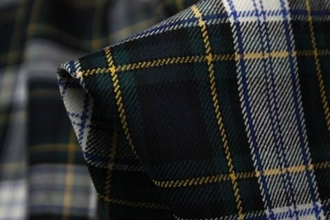 Designer Italian 100% Wool Tartan. Width:156cmIdeal for jackets, pants, skirts…