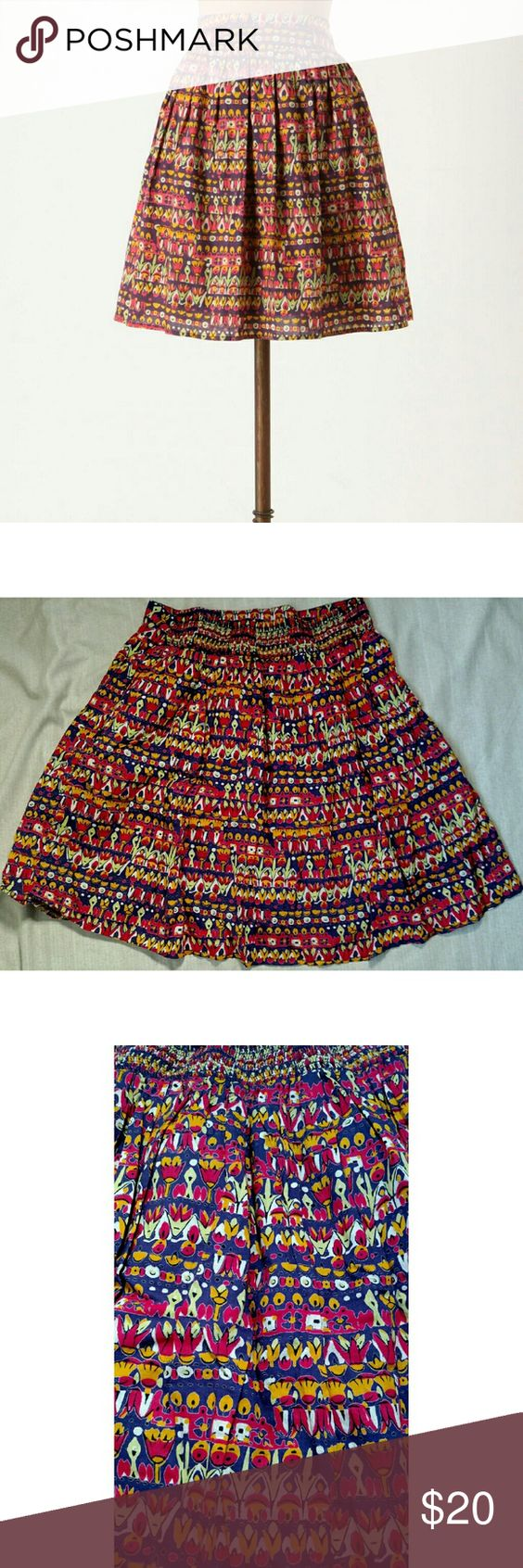 Edme & Esyllite Anthro 'cultivation' skirt size M 100% cotton. 28in waist unstretched. 22 In long.  Excellent condition. Anthropologie Skirts Midi