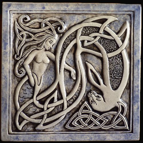 Selkies are mythological creatures found in Faroese, Icelandic, Irish, and Scottish folklore. The word derives from earlier Scots selich,. Selkies are said to live as seals in the sea but shed their skin to become human on land.  Want this tile.