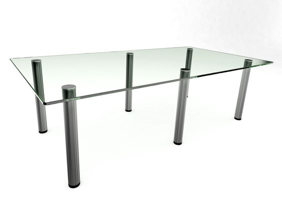 Prestige Glass Boardroom Table 2400. Glass Desks.