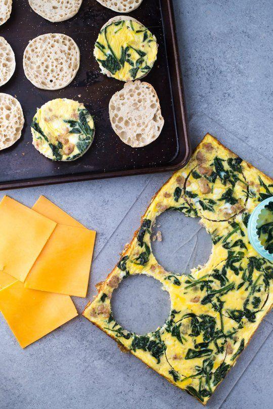 Freezer-Friendly Frittata Breakfast Sandwiches