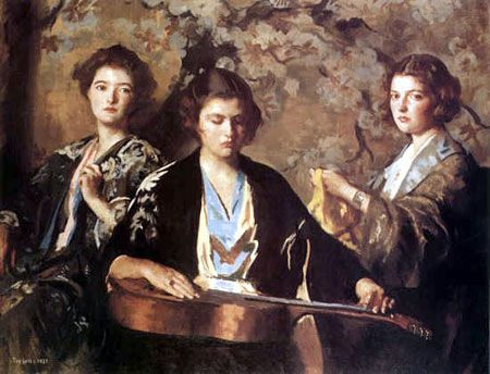 Edmund Tarbell - My Three Granddaughters, 1937
