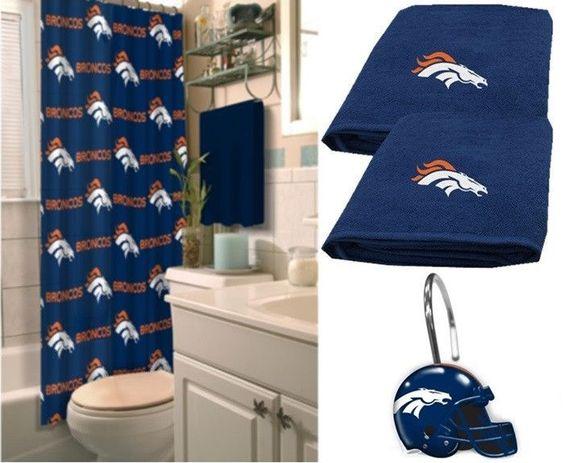Denver Broncos NFL Deluxe Bath Set at sportsfansplus.com