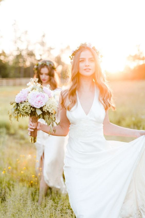 dreamy twin bridal session