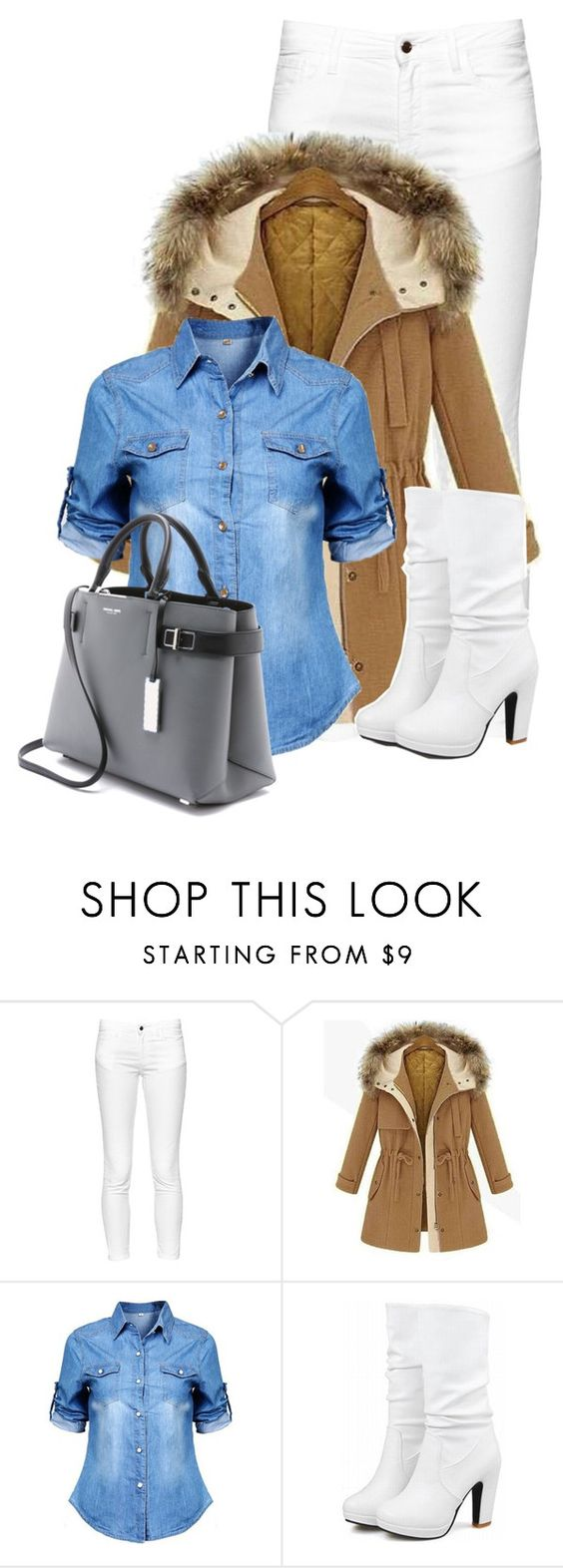 """Untitled #11850"" by nanette-253 ❤ liked on Polyvore featuring French Connection and Michael Kors"