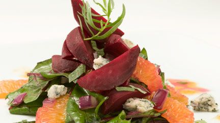ChefMD Healthy Recipe: Roasted Beet Salad with Bleu Cheese and Tarragon