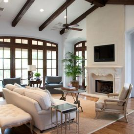 traditional living room by grettworks