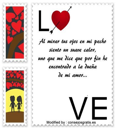 buscar poemas de amor para mi enamorada,bonitas dedicatorias de amor para mi novia: http://www.consejosgratis.es/excelentes-frases-para-conquistar/
