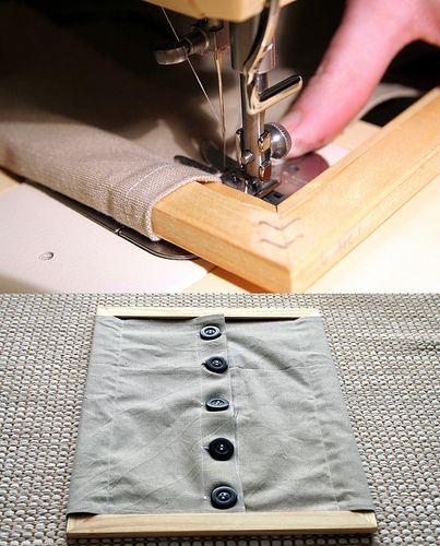 Cadre d'habillage Montessori: les gros boutons. A fabriquer avec un cadre ikéa;Tuto: