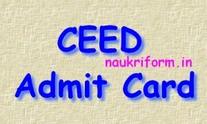 CEED EXAM Call Letter 2016