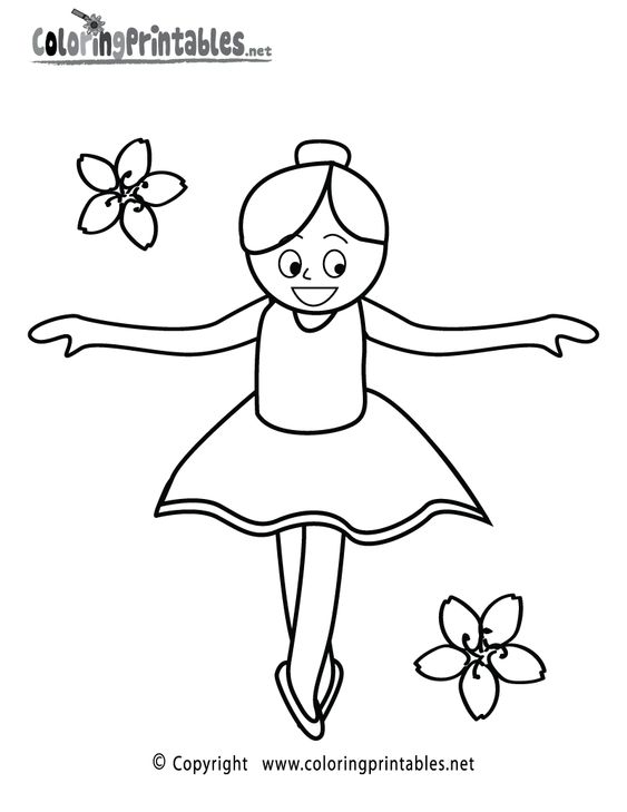 Ballet Coloring Pages And Ballet Girls On Pinterest