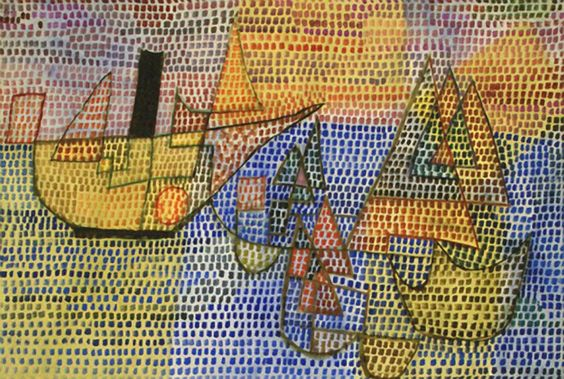 Steamers and sailing boats Paul Klee