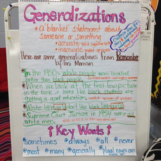 Writing concept: Generalization?