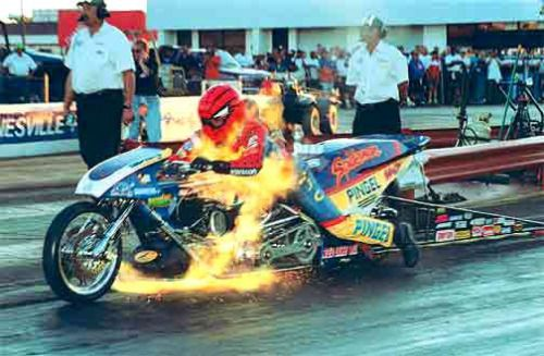 Motorcycles And Design Larry Mcbride S Top Fuel Drag Bike Goes