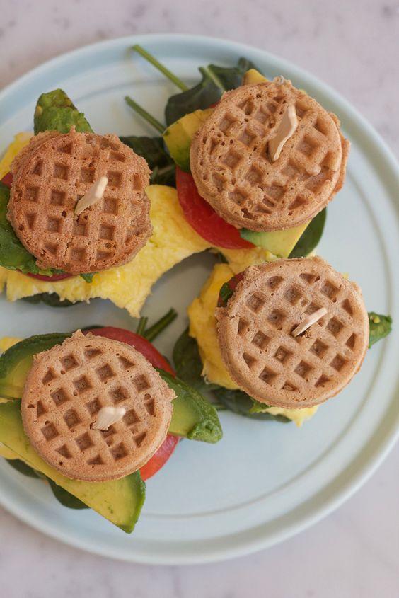 Mini Waffle Breakfast Sandwiches + A Video!