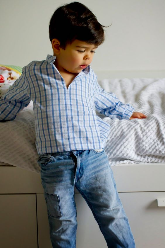 Saídos da Concha: Sewing for Boys :: Easy Linen Shirt