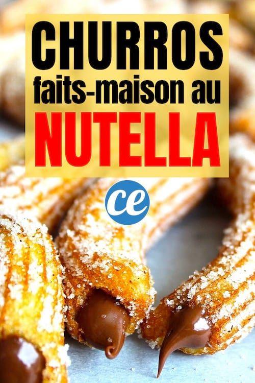 Facile Et Rapide La Recette Gourmande Des Churros Au Nutella Faits Maison Recette Nutella Fait Maison Recette Churros Facile Recette Gourmande