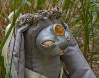 Silver the Meadow Spirit, Ooak Art Doll