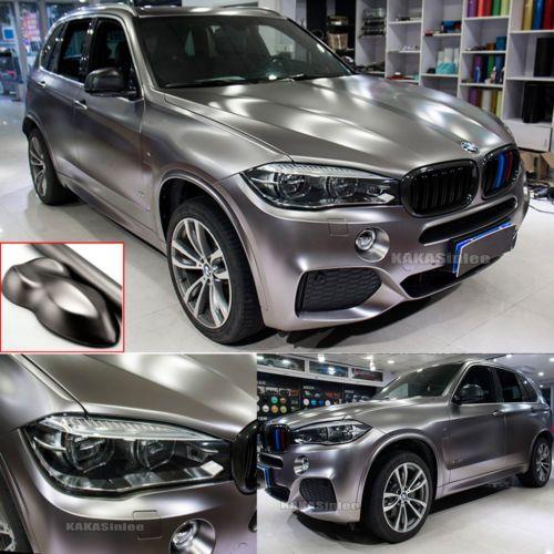 Entire Car Wrap Pearl Metal Satin Matte Chrome Vinyl Sticker Stretch Z Grey Cb Ebay Car Wrap Car Car Wrap Design