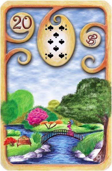 Baralho Cigano – O Jardim - Carta 20 - Linha das Águas