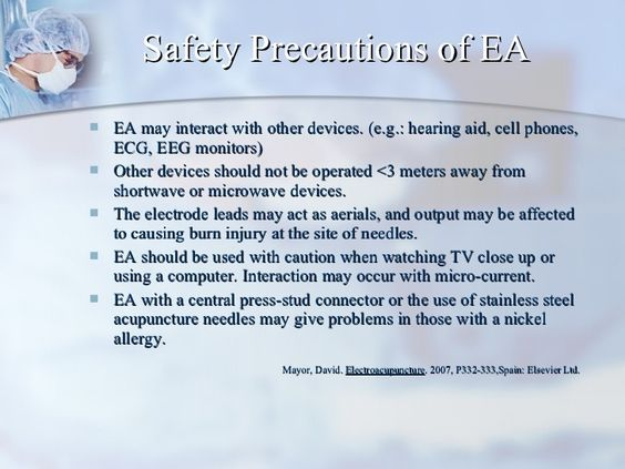 Safety Precautions of EA <ul><li>EA may interact with other devices. (e.g.: hearing aid, cell phones, ECG, EEG monitors) <...